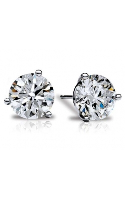 3-Prong Martini Studs 3/8 CTW White product image
