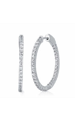 Ara Oval Hoop Earrings 3 3/8 CTW White product image