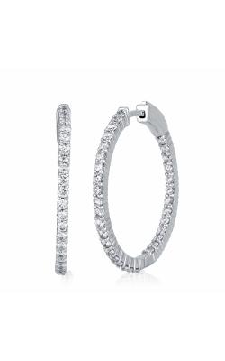 Ara Oval Hoop Earrings 1 1/4 CTW White product image