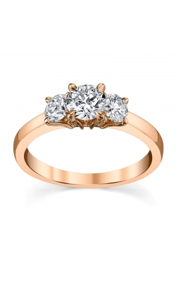 Fire and Ice Three Stone Ring 1CTW in Rose Gold product image