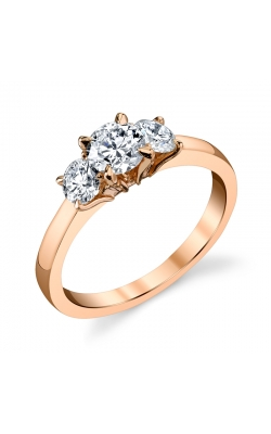 Fire and Ice Three Stone Ring product image