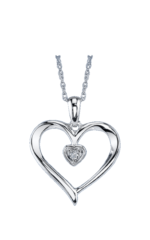 WHITE GOLD HEART PENDANT 06-1782-944 product image
