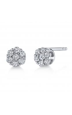 Flower Cluster Diamond Stud Earrings product image