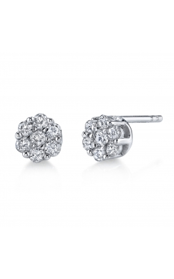 Flower Cluster Diamond Stud Earrings product image