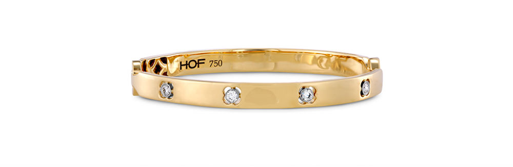 Hearts on Fire Yellow Gold Bangle