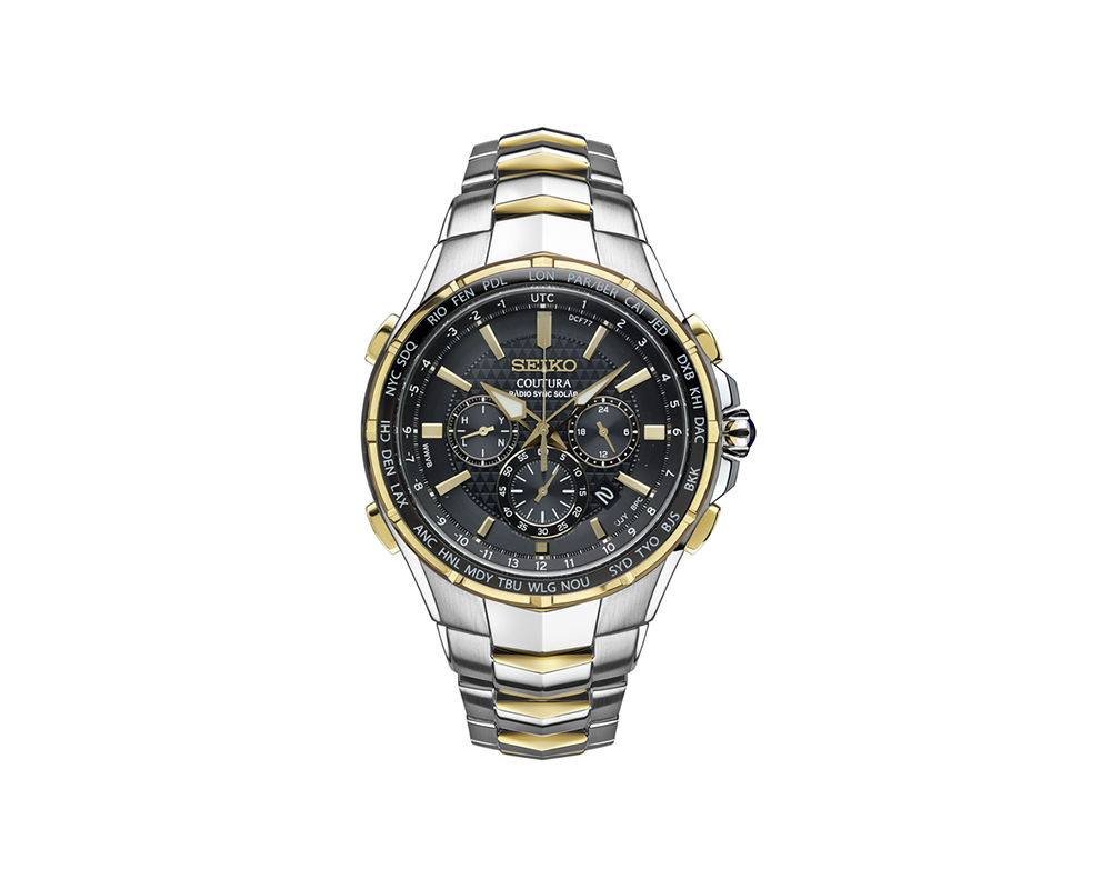 Seiko Coutura world time function watch
