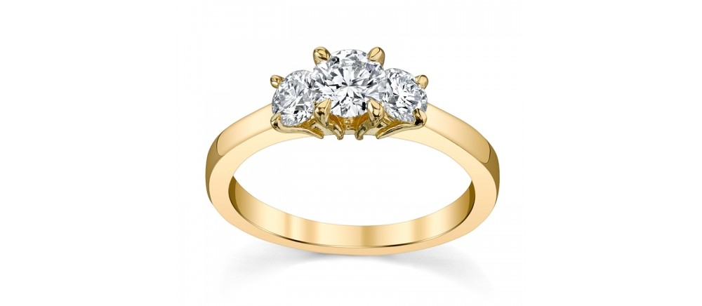 Three stone engagement rings at Rogers Jewelry Co.