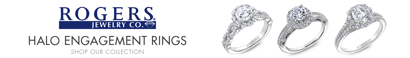 Halo Engagement Rings at Rogers Jewelry Co.