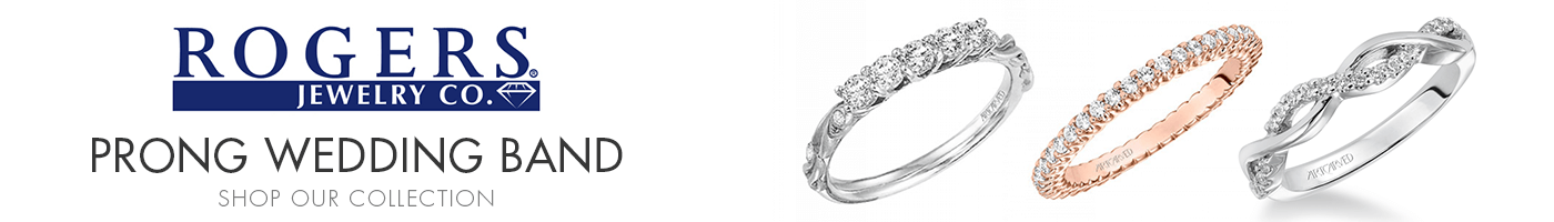 Prong Wedding Bands at Rogers Jewelry Co.